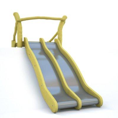 Zweispurige Hangrutsche, Breite 2 x 50 cm