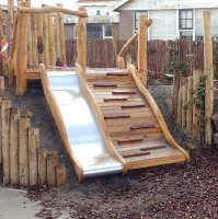Slide with ramp