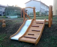 Wood slope slide