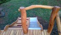 Wooden slope slide